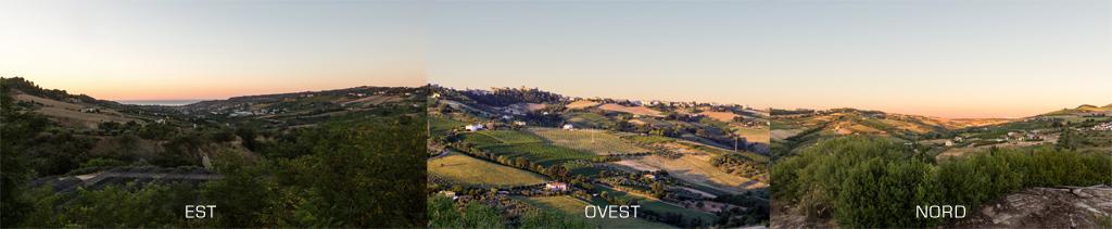 Vue panoramique de les pépinières Ciarrocchi